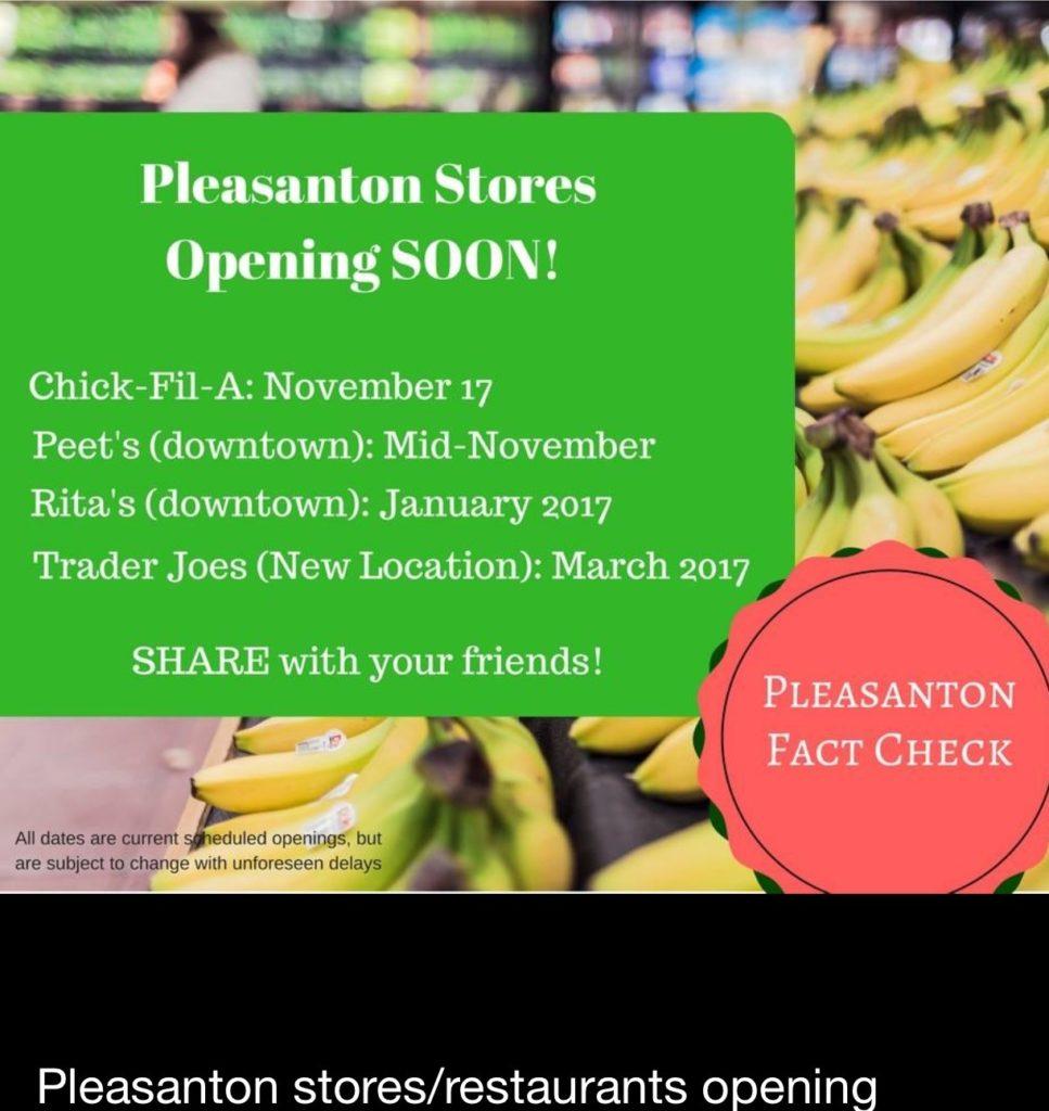 Pleasanton Stores Opening SOON!